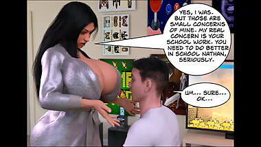 HOT Busty Stepmom Fucks Son Behind Husbands Back (3D Comic)