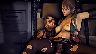 Metal gear solid, Quiet Part 2 3d Animation Compilation [10 min + Full HD]
