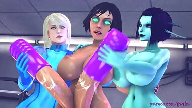 Bioshock infinite: Two is better than one {FUTA}