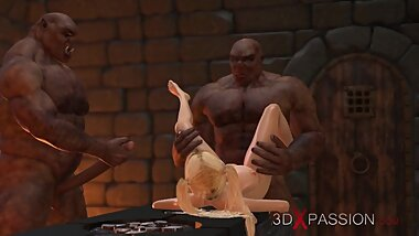 Dungeon orgy. 3d animation