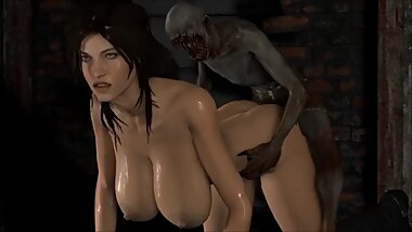 Tomb rider - Lara with monsters 3D