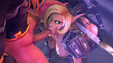 Gentle and Deep Blowjob from Juicy Elf World of Warcraft 3d Animations [10 min + Full HD]