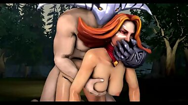 Lina with Sven Hard Deep Sex Dota 2 3d Anim Sound