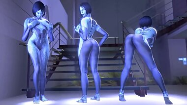 NSFW Halo, Cortana Part 1 3D Hentai Animation Good Quality, Long