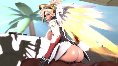 Mercy Gently and Deeply Moves on a Black Dick on the Beach Quality Version for long Fap Full HD