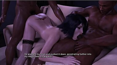 CHEATING WIFE FUCKED BY TWO BIG BLACK COCKS-PART 1