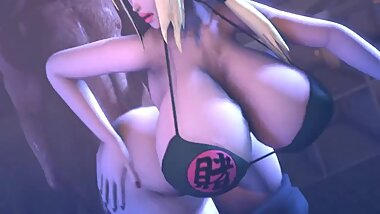 Naruto - Lady Tsunade Having Fun in the Office
